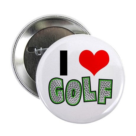 I Heart (Love) Golf Button
