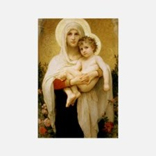 Madonna Of The Roses Rectangle Magnet