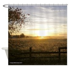 Sunrise Over Church Square Shower Curtain
