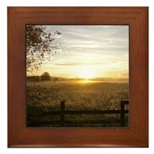 Sunrise Over Church Square Framed Tile