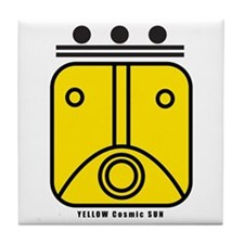 YELLOW Cosmic SUN Tile Coaster