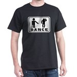 black T-Shirt with funny dance figure