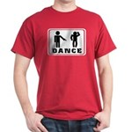 Dark red T-shirt with Funny dance figure