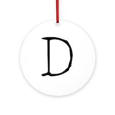 Acoustic Monogram D Ornament (Round)