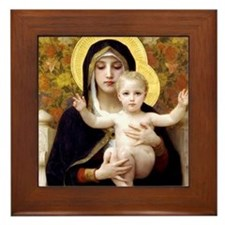 Madonna of the Lilies Framed Tile