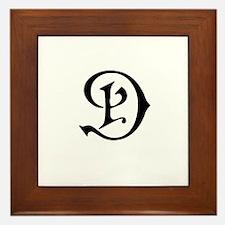 Royal Monogram D Framed Tile