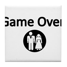 Game Over Bride and Groom Tile Coaster
