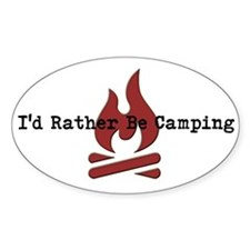 Id Rather Be Camping Decal