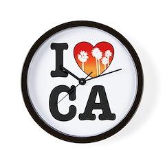I Heart CA Wall Clock