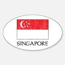 Singapore Flag Oval Decal