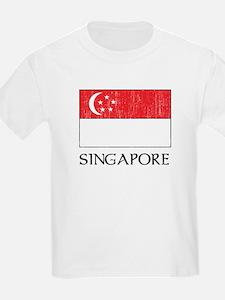 Singapore Flag Kids T-Shirt