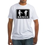 Funny dance figure Fitted T-Shirt