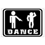Funny dance figure Large Poster