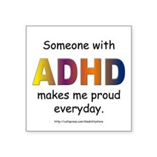 ADHD Pride Rectangle Sticker