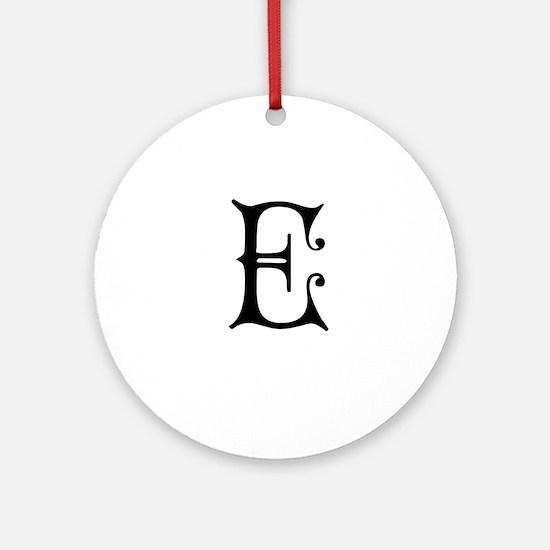 Royal Monogram E Ornament (Round)