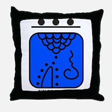 BLUE Galactic STORM Throw Pillow