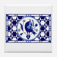 Blue Bird of Happiness Tile Coaster