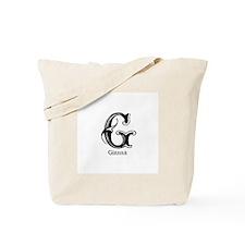 Gianna: Fancy Monogram Tote Bag