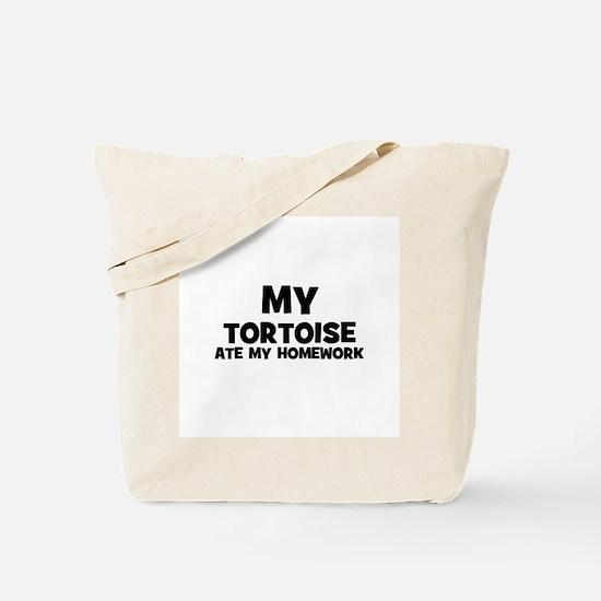 My Tortoise Ate My Homework Tote Bag