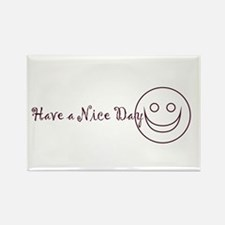 Have A Nice Day Happy Face Rectangle Magnet (10 pa
