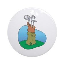 Silly Golf Clubs Ornament (Round)