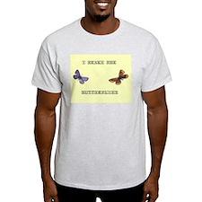 Butterflies Ash Grey T-Shirt