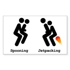 Spooning and Jetpacking Decal