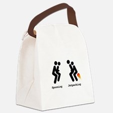 Spooning and Jetpacking Canvas Lunch Bag