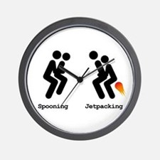 Spooning and Jetpacking Wall Clock