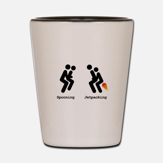 Spooning and Jetpacking Shot Glass