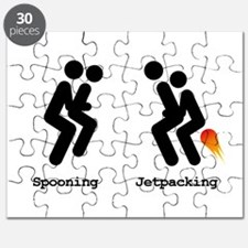 Spooning and Jetpacking Puzzle
