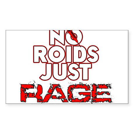 No Roids Just Rage (Black) Sticker