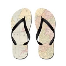 Scotland Map Flip Flops