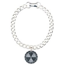 Distressed Gray Radiation Symbol Bracelet