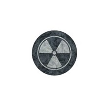 Distressed Gray Radiation Symbol Mini Button