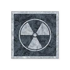 Distressed Gray Radiation Symbol Sticker