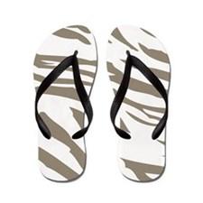Cocoa Zebra Print Flip Flops