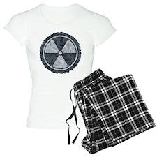 Distressed Gray Radiation Symbol Pajamas