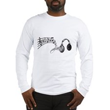 Headphones and Music Notes - Music Shirt Long Slee
