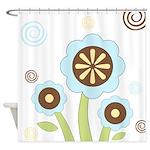 Cute Flower Garden Shower Curtain