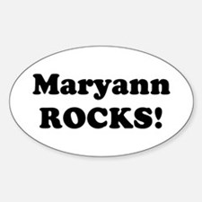 Maryann Rocks! Oval Decal