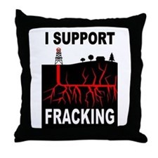 FRACKING Throw Pillow