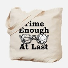 Time Enough At Last Glasses Tote Bag