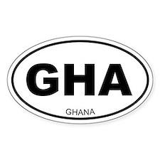 Ghana Oval Decal
