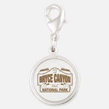 Bryce Canyon Silver Round Charm