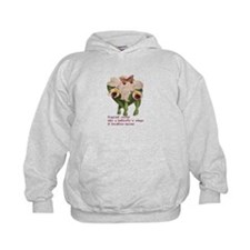 Orchid, Butterfly and Haiku Hoodie