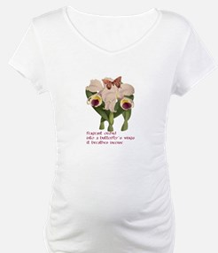 Orchid, Butterfly and Haiku Shirt