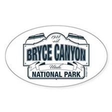 Bryce Canyon Blue Sign Decal