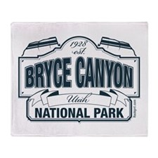 Bryce Canyon Blue Sign Throw Blanket
