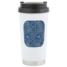 Monaco Blue & Linen Damask #5 Travel Mug